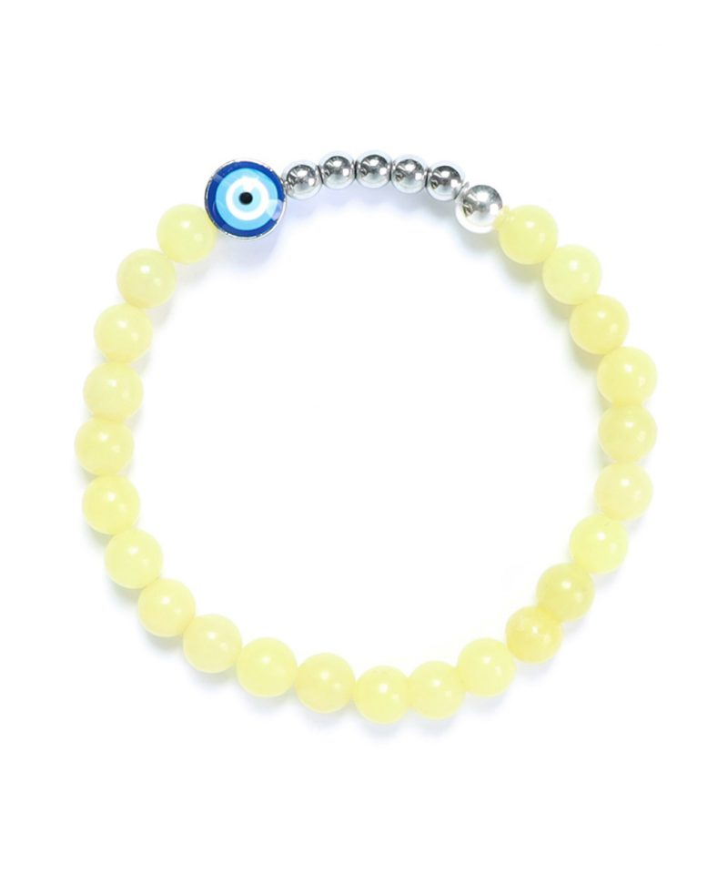 Ojo Bracelet Lemon Jade – Silver