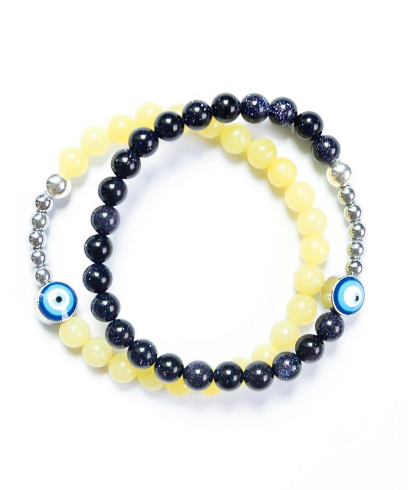 Ojo Bracelet Blue Goldstone – Silver