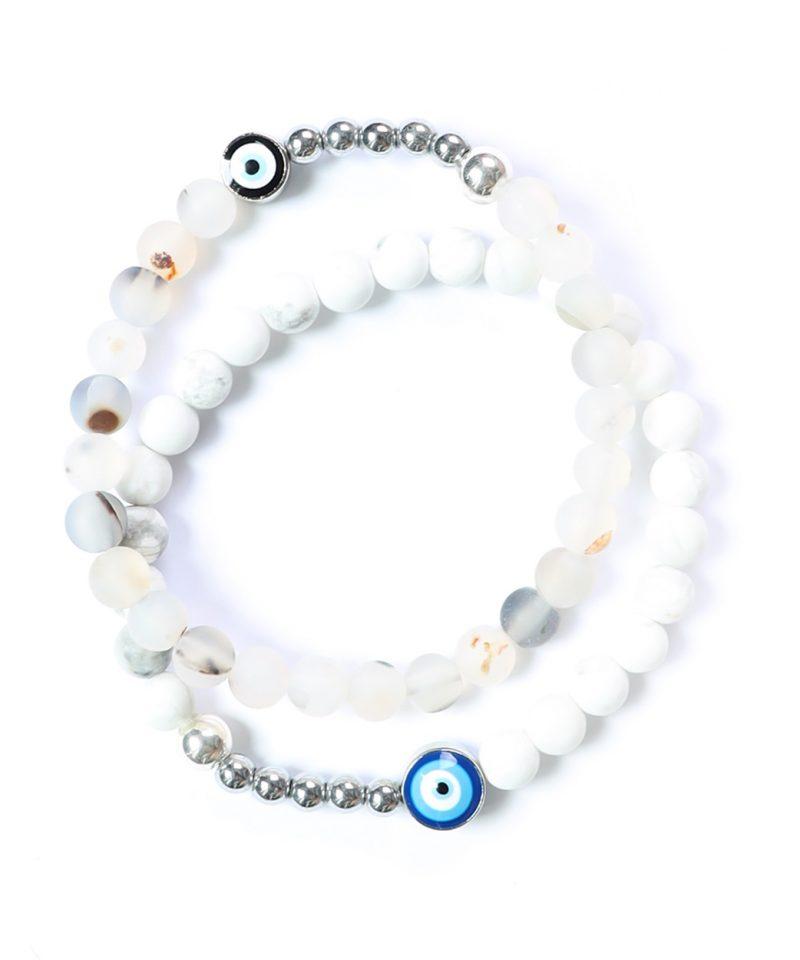 Ojo Bracelet White Howlite – Silver