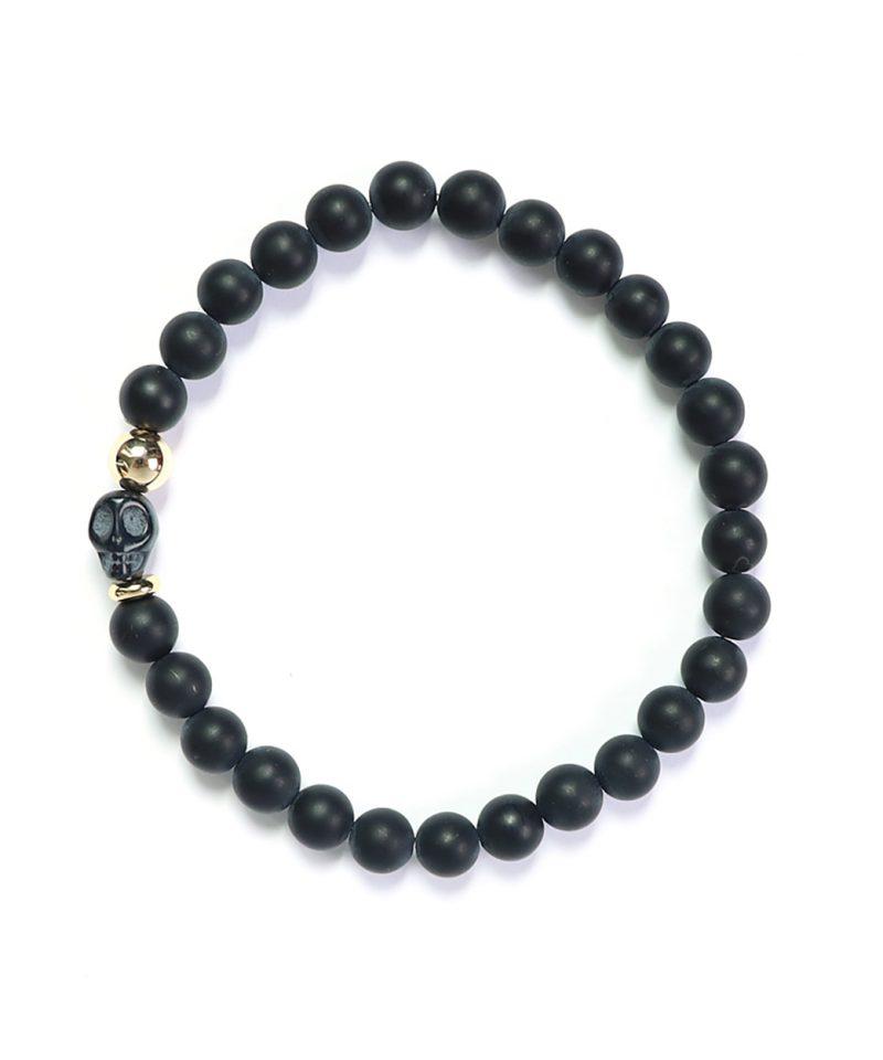 Skele Bracelet – After Dark 6mm Black Agate