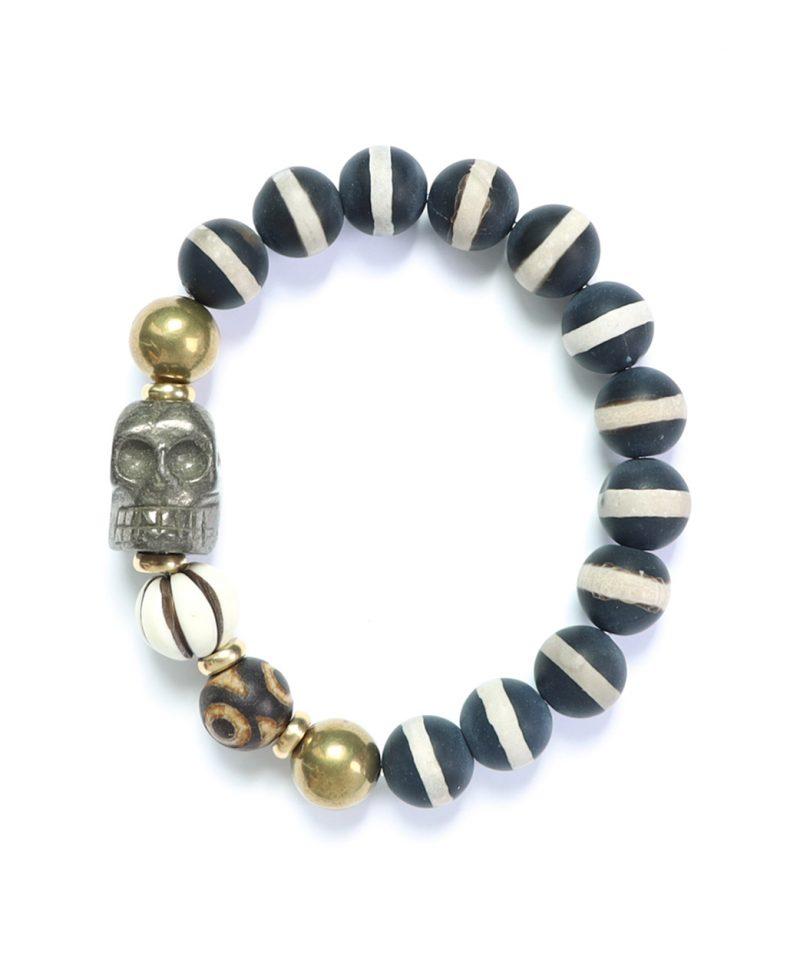 Skele Bracelet – Pyrite Bandit 10mm