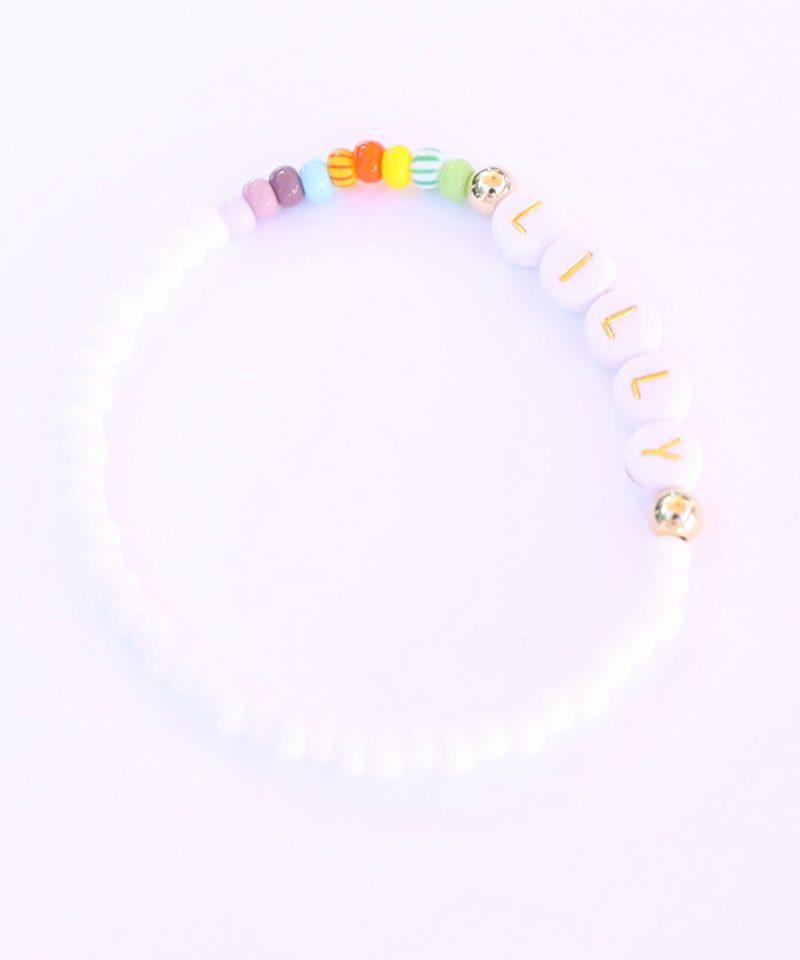 Name Game Bracelet – White Color Crush